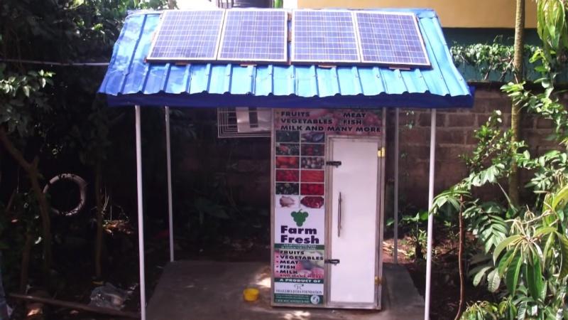 solar powered fridge