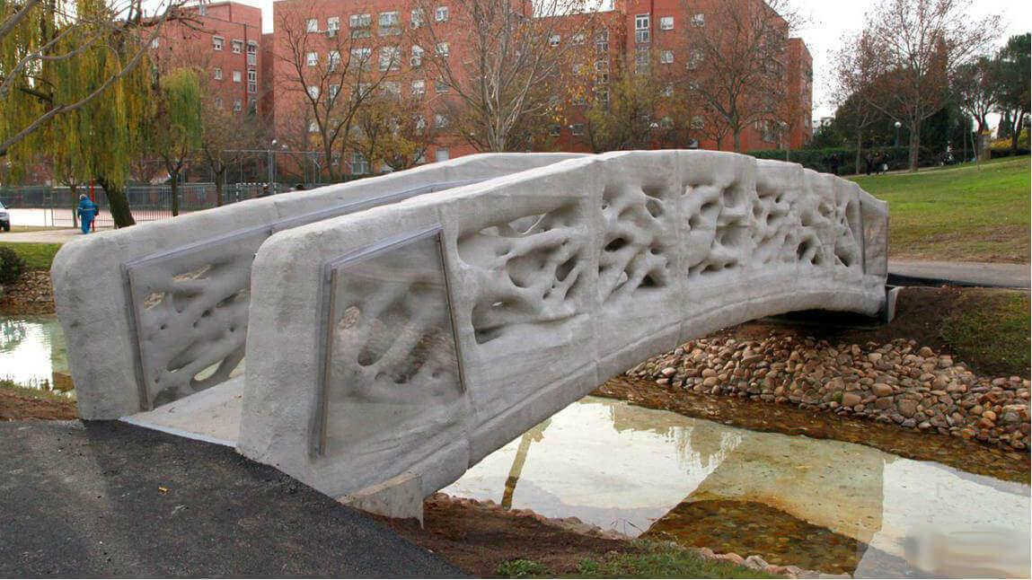 3d printed pedestrian bridge madrid