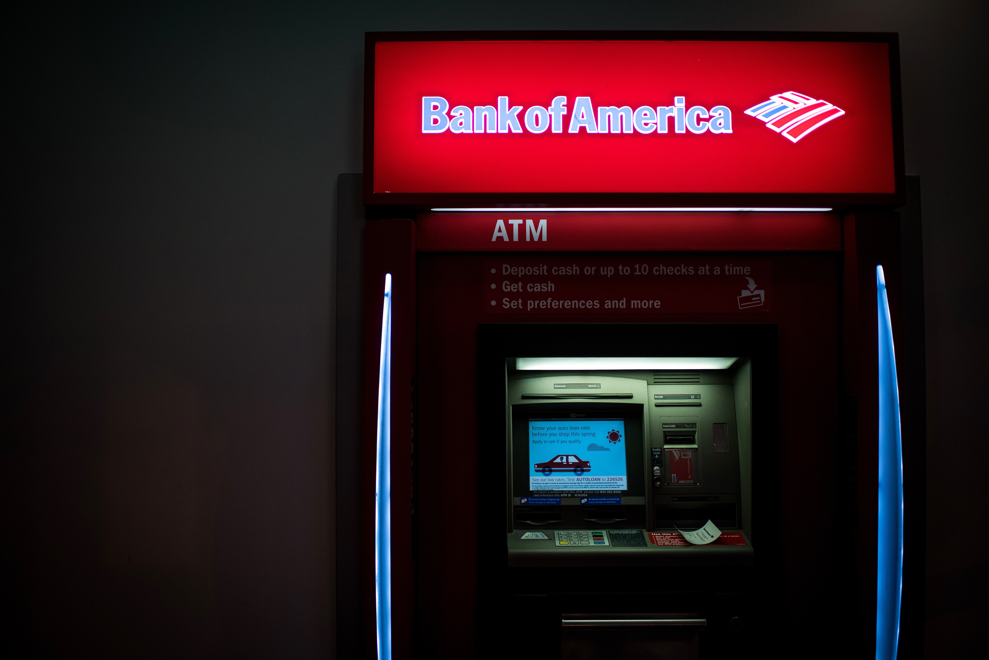 bank of america employee free branches