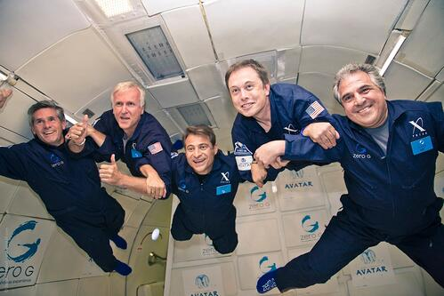 Cameron Musk ZeroG Flight
