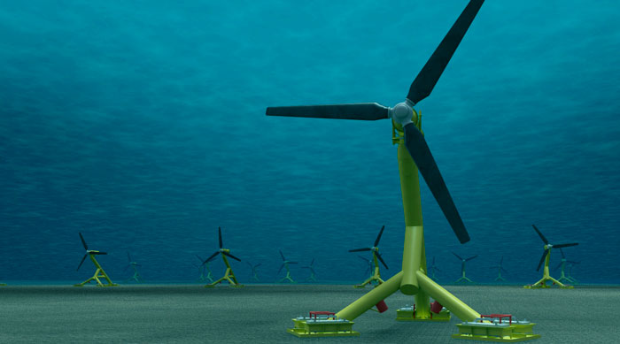 large scale tidal power farm