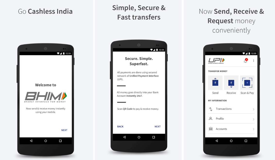 india prime minister app mobile payments