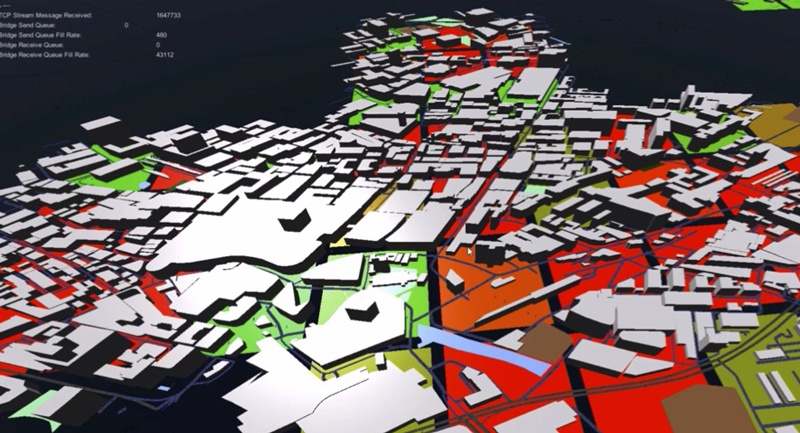 Virtual Reality City Simulation Autonomous Taxi Dispatch