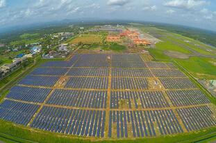 solar power airport
