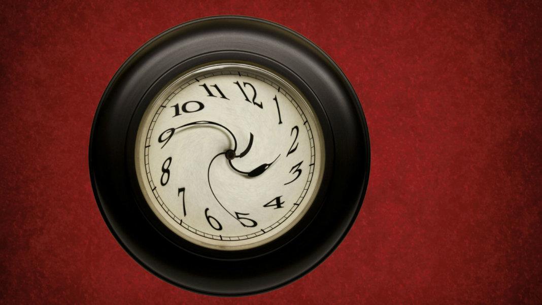 image of warped clock