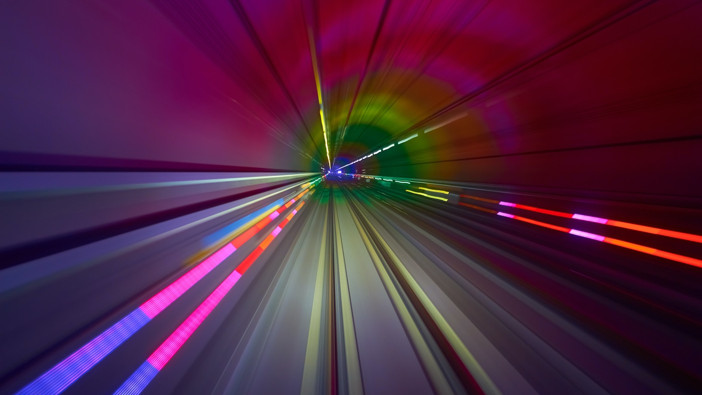 colorful lines time lapse lights speed