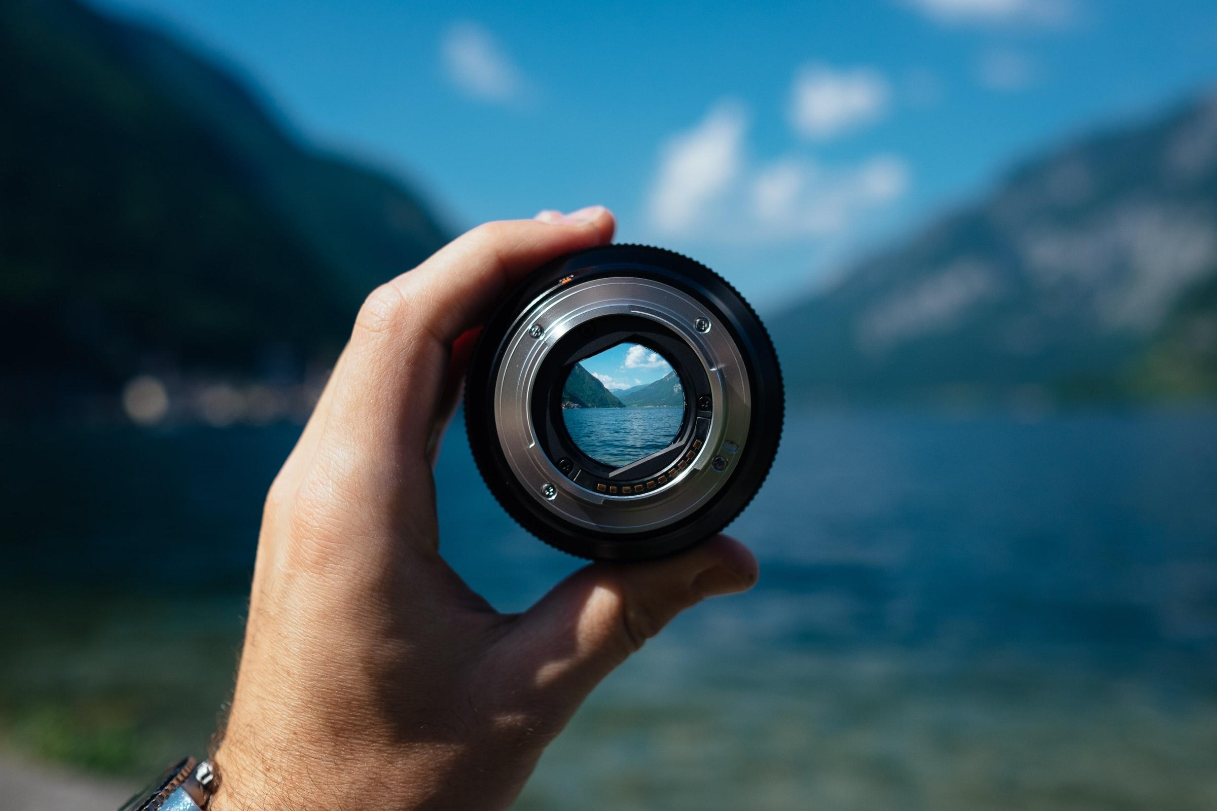 landscape in focus through lens
